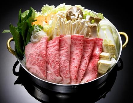 comida japonesa: Shabu shabu, comida japonesa Foto de archivo