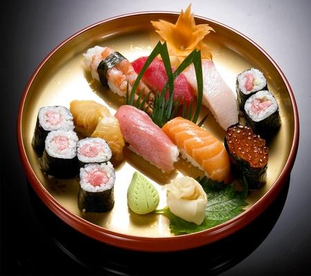 sushi on the plate set sushi