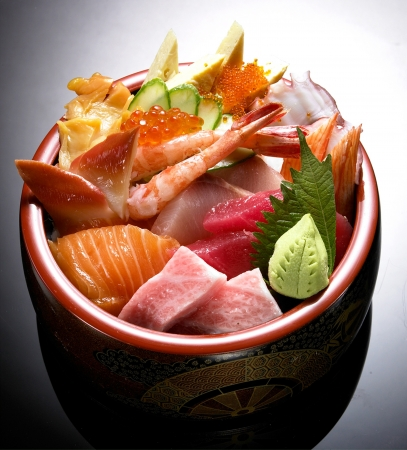 japan sashimi set Stock Photo