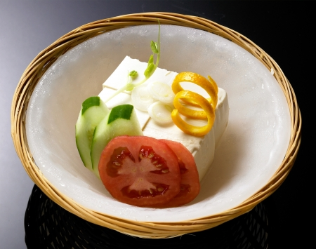 bean curd: japanese summers food chilled tofuon ice blow