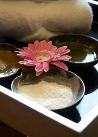 Spa still life with Thai herbal
