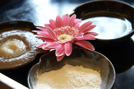 Spa still life with Thai herbal ball Stock Photo - 20874350