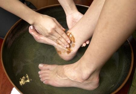 restore energy flow: reflexology foot massage, spa foot treatment,Thailand