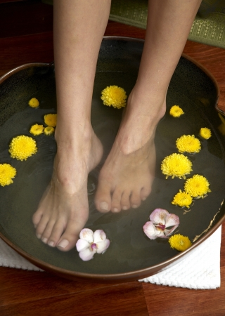 traditional wellness: reflexology foot massage, spa foot treatment,Thailand