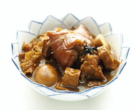 pork stew with egg and rice,thai food  Stock Photo