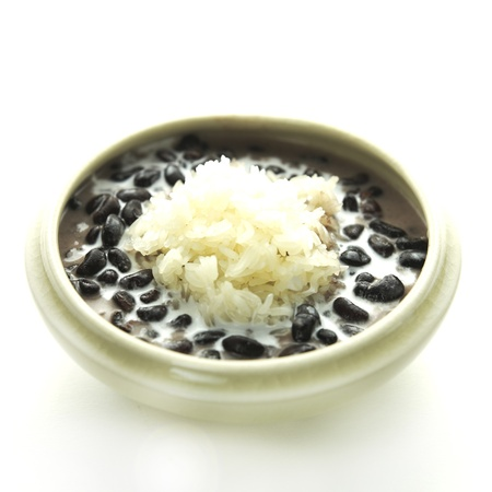 Black nat rice with coconut milk