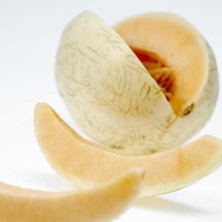 cantaloupe melonon white background Stock Photo