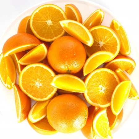 orange white background photo