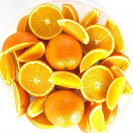 orange white background Stock Photo