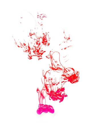 ink in water on a white background Stock Photo