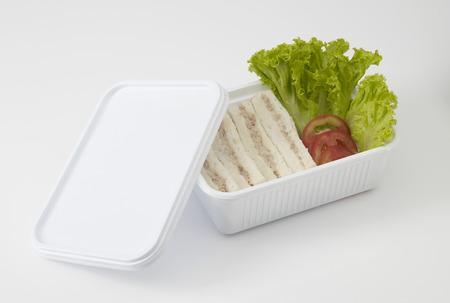 tuna sandwich on white background Stock Photo