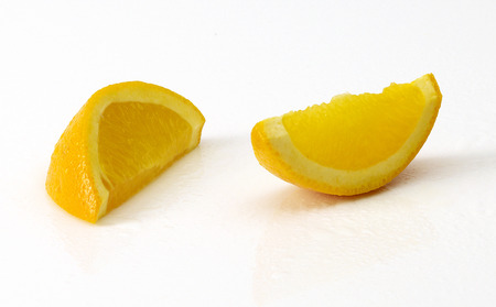 Tasty mandarine isolated on white Stock Photo