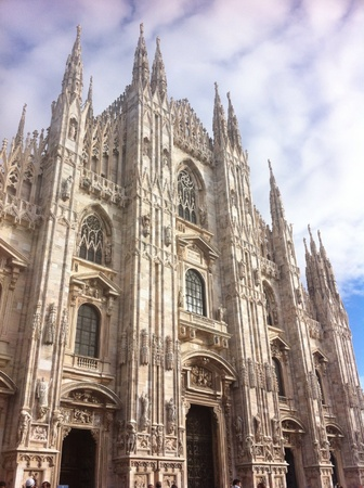 artwork: The cathedral of Milan a wonderful and majestic gothic artwork Stock Photo