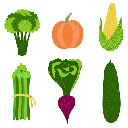 food healthy: Set of fresh vegetables, hand drawn vector illustration. Diet, vegetarian, vegan food. Healthy eating.