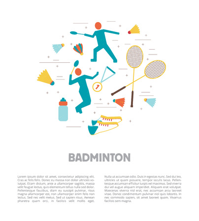 Set of badminton accessories and sport games inventory