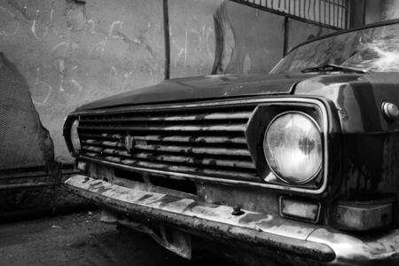 russian car: old russian car Stock Photo