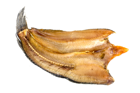 Dried fish ,thailand food preservation isolated on white
