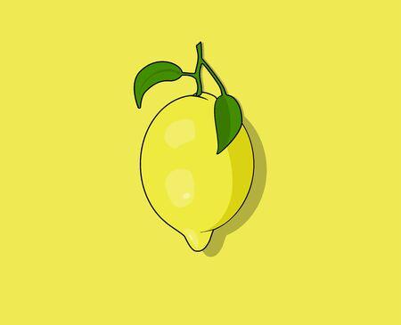 yellow lemon vector illustration for templat, logo or icon. Modern illustration