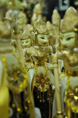 wayang art of puppet fro Indonesia Stock Photo