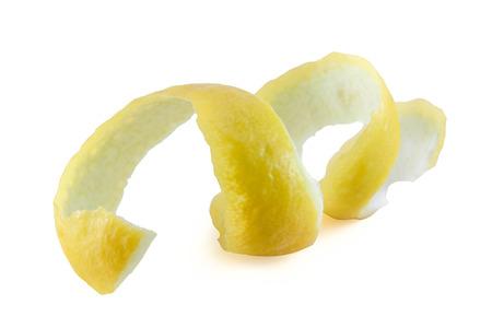 Lemon twist on white background  Stock Photo