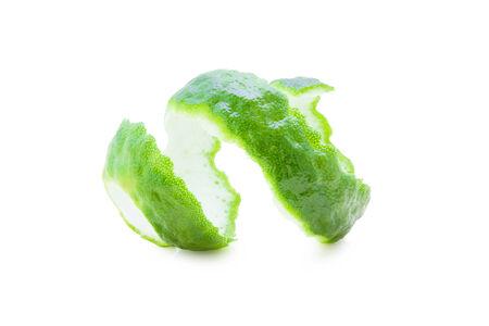Kaffir Limes twist on white background  photo