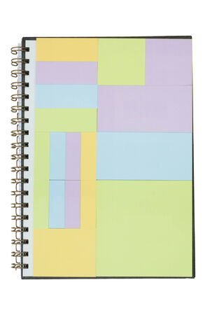 spiral notebook: An open spiral bound notebook color full