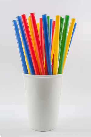 rainbow cocktail: Cannucce multi color Archivio Fotografico