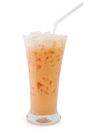 Milk Tea isolated on white background photo