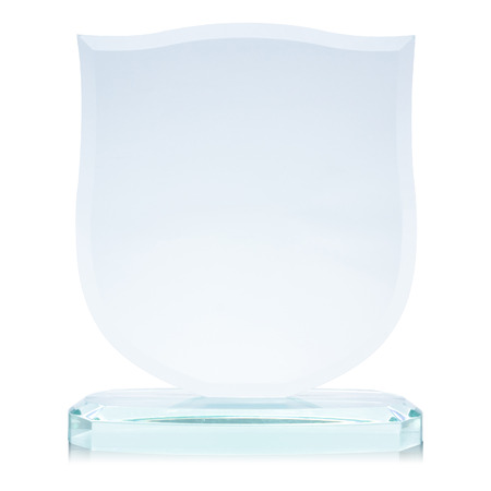 Glass award, isolated on white,  file includes a excellent clipping path 版權商用圖片 - 30969106
