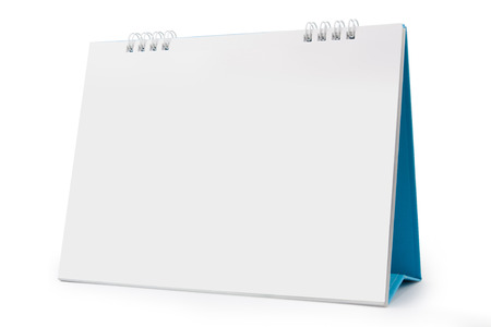 blank papers: Desk Calendar, isolated on white,  file includes a excellent clipping path