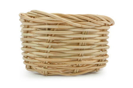 Basket  isolated on white,  file includes a excellent clipping path photo