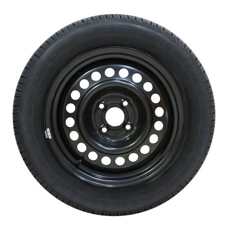car wheel on white background photo