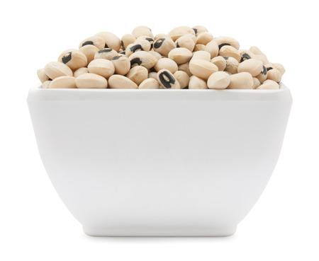 black eyed peas beans isolated on a white background photo