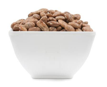 roman beans: pinto beans isolated on a white background