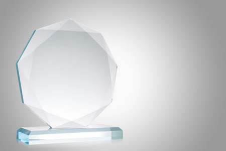 glass badge: Glass trophy Stock Photo