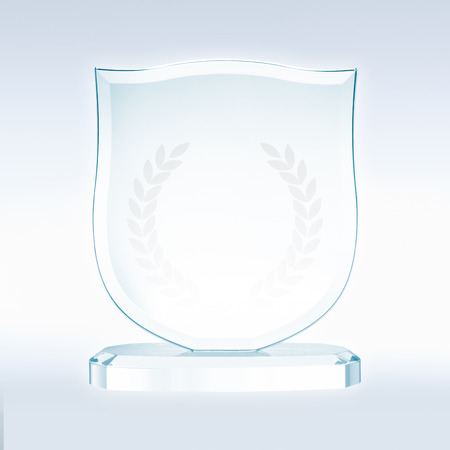 includes: Glass trophy  file includes a excellent clipping path Stock Photo
