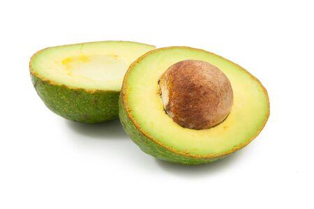 avocado on white background photo