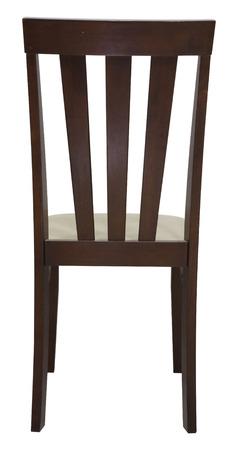 silla: silla de madera aislada en el fondo blanco, el archivo incluye un trazado de recorte excelente Foto de archivo
