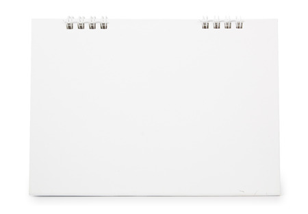 blank paper desk calendar with soft shadows, isolated on white,  file includes a excellent clipping path photo