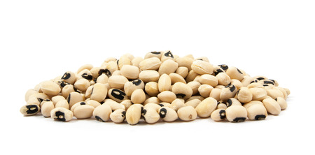 black eyed peas beans  isolated on a white background