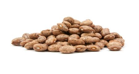 roman beans: pinto beans on white background Stock Photo