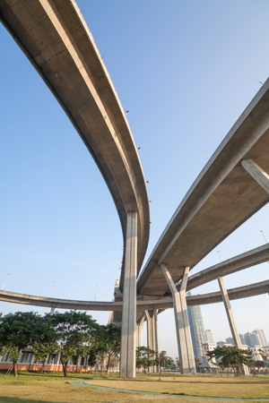 elevated: large elevated traffic highway