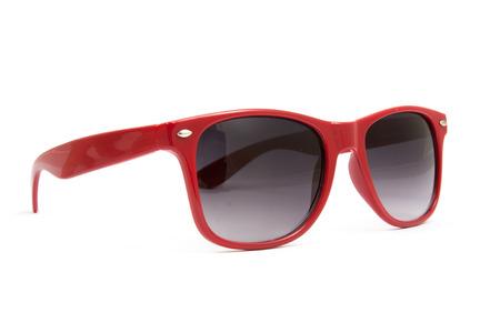 red sunglasses on white background 版權商用圖片 - 49937007