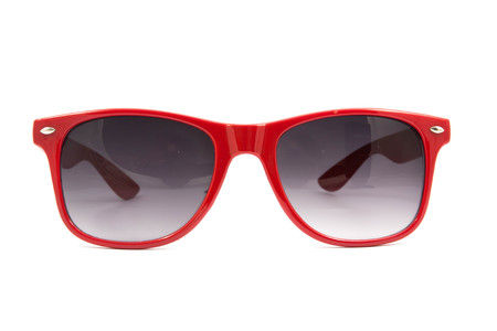 sunglasses isolated: red sunglasses on white background
