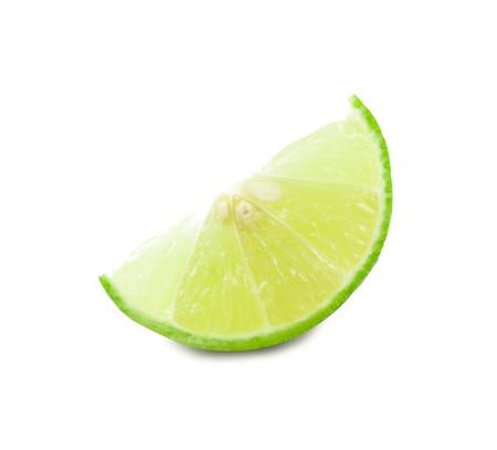 segmentar: lime fruit segment isolated on white background cutout