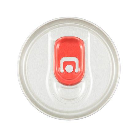lata de refresco: alto �ngulo de vista de refresco de aluminio puede aislado en blanco