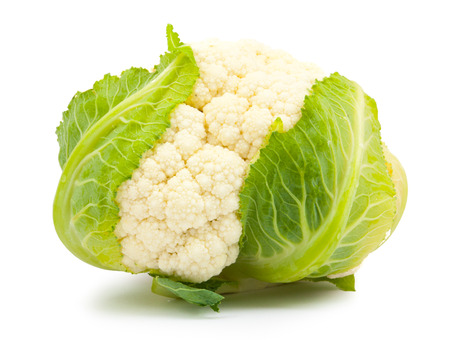 solated on white: cauliflower solated on white background
