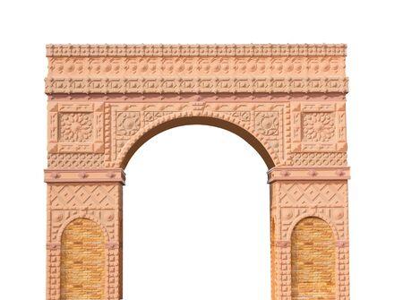 columnas romanas: Columnas romanas puerta aislada en blanco
