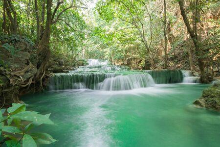 fall hua mae kamin level kanchanaburi thailand