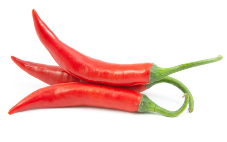 red chili peppers closeup view